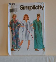 Simplicity 9608 UNCUT Pullover Caftan One Size by filecutter, $3.25