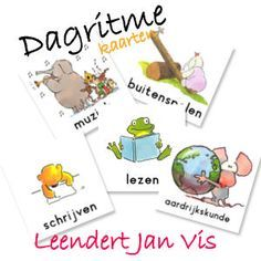 dagritmekaarten: dagen van de week, maanden van het jaar, seizoenen, feestdagen, vakken, activiteiten, ...