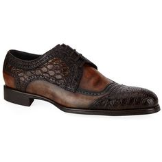 Dolce & Gabbana Sienna Croc Derby Shoe ($1,610) ❤ liked on Polyvore featuring men's fashion, men's shoes, men's dress shoes, mens crocodile shoes, mens perforated shoes, crocs mens shoes, mens derby shoes and mens leather shoes