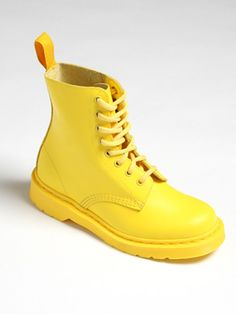 Yellow Dr. Martens #Boots
