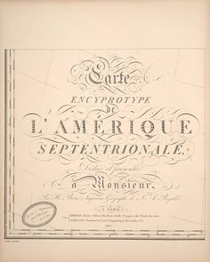 Smithsonian Institution Libraries Detail of Carte Encyprotype L'Amérique Septentrionale .