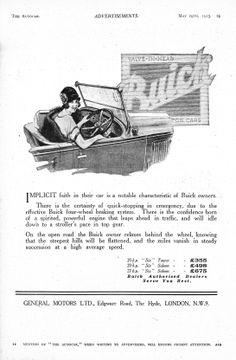 Buick Autocar Car Advert 1925