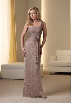 Chiffon One-Shoulder A-line Long Mother Of The Bride Dress with A Drape Love this dress...not the color