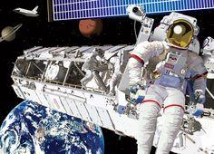 High quality wallpaper murals and prints Astronauts In Space, High Quality Wallpapers, Self Adhesive Wallpaper, High Definition, Art Pieces, Vibrant, Wall Art, Wallpaper Murals, Illustration
