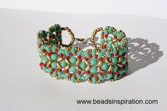 swarovski, beads, superduo, bracelet, pulsera Swarovski, Beaded Bracelets, Jewelry, Fashion, Beading, Bracelet, Moda, Jewlery, Bijoux