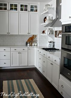 Open shelving in the kitchen | The Lilypad Cottage