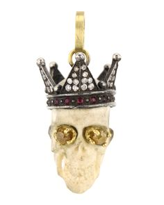 Sylva & Cie Queen Victoria Skull Pendant