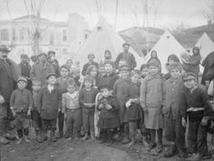 WWI, Jan 1917; Some 40,000 refugees housed in British tents in Salonika. ©IWM