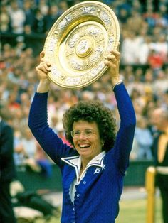 Billie Jean King 1943 - One of the greatest female athletes Billie Jean King was one of the greatest female tennis champions who battled for equal pay for women. She won 67 professional titles including 20 titles at Wimbledon.