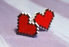Pixel Heart Earrings