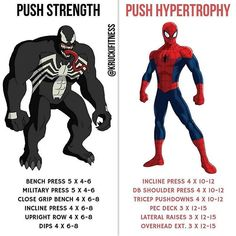 If you are running a push/pull/legs split, here are 2 push workouts you can add to the split if you'd like.For push workouts, you'll be training your chest, shoulders and triceps. It's important that you have 1 p Push Workout, Workout Splits, Gym Workout Chart, Gym Workout Tips, Workout Regimen, Workout Schedule, Push Pull Workout Routine, Push Pull Legs Workout, Workout Men