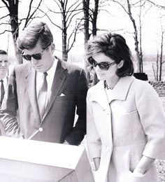 Jack & Jackie in their trade mark sunglasses.