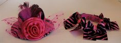 DOG COLLARS CUSTOM ... along with the coordinating Ladies Day Out Hat in Fuchsia/Black Zebra.  Contact Zamora.s@verizon.net for sizing, prices and other information.