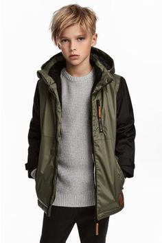 Padded jacket in windproof, water-repellent, breathable functional fabric with a detach Boys Haircuts Long Hair, New Haircuts For Boys, Kids Hairstyles Boys, Little Boy Haircuts, Toddler Boy Haircuts, Young Boy Haircuts, Hairstyles 2018, Kids Cuts, Boy Cuts