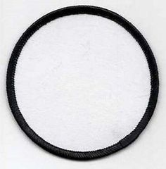"Blank Patch 3"" White Back & Black Edge Heat Sealed Back MC Club Biker BLA-0011"