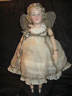1930's Antique German ANGEL Christmas Doll