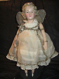 1930's Antique German ANGEL Christmas Doll