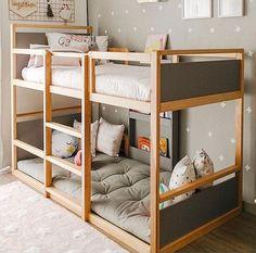 Bedroom Boys Shared Kura Bed 34 Ideas For 2019 Toddler Bunk Beds, Bunk Beds Boys, Boy Toddler Bedroom, Kid Beds, Kids Bedroom, Bedroom Decor, Short Bunk Beds, Camper Bunk Beds, 1930s Bedroom
