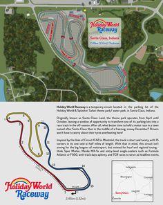 Holiday World Raceway (Santa Claus, Indiana) : RaceTrackDesigns Holiday World, Town Names, Race Tracks, Safari Theme, Circuits, Back Home, Indiana, Santa, Racing
