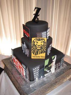 Broadway theme Cake made by Cotillion Events Engineers