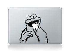 Cookie monster -- Mac Decal Mac Sticker Macbook Decals Macbook Stickers Vinyl Decal for Apple Laptop Macbook Pro / Macbook Air / iPad via Etsy