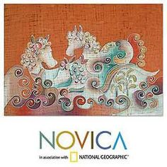 Handcrafted Cotton 'Joyous Animals' Batik Wall Hanging (Thailand) | Overstock™ Shopping - Big Discounts on Novica Tapestries