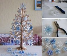 How to Make Pretty Christmas Tree with Plastic Bottles.  See this tutorial here