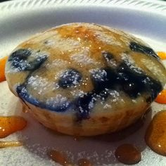 Blueberry pancakes in the mini pie maker! Yumm!