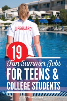 A list of great summer job ideas for teenagers and college students. Find out which jobs can help you can save up for college, investing, or even you first home. These ideas can make your summer fun and rewarding! college student resources, college tips Summer Jobs For Students, Summer Jobs For Teens, Best Summer Jobs, Teen Summer, College Students, Summer Fun, Summer Time, Summer Fresh, Summer Bucket