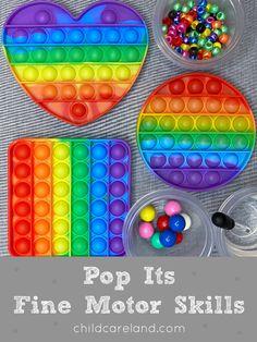 Pop Its Fine Motor Activities Early Learning Activities, Motor Activities, Classroom Activities, First Finger, Fidget Toys, Fine Motor, Printables, Pop, Popular