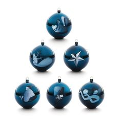Alessi Blue Christmas Tree Hanging Ornaments