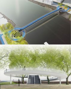 Proposal for Nine Elms to Pimloco bridge, London by Witteveen+Bos Raadgevende Ingenieurs B.V. with ipv Delft, Adams Hendry Consulting Ltd. Click image for link to full profile and visit the slowottawa.ca boards >> http://www.pinterest.com/slowottawa