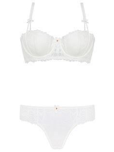 Burvogue Womens Thin Transparent Underwear Lace Bra Sets Lingerie