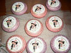 sabonetes decorados adesivo casamento