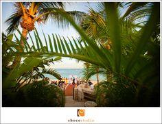 Hacienda Cocina Cantina Beach colorful wedding reception