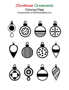 Free Christmas Ornament Coloring Page Printable #printable #Christmas #crafts