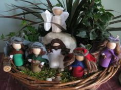 Easter Peg People for Easter Garden from Embracing the Now