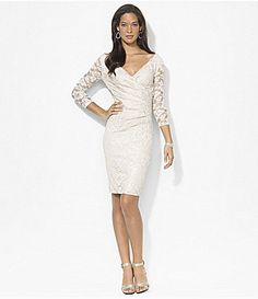 Lauren Ralph Lauren Foil Lace Dress #Dillards