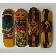 Linha Oldschool Insanos com sedas Custom Skates