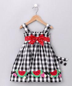 Vestidos de niñas con apliques Ideas sandias