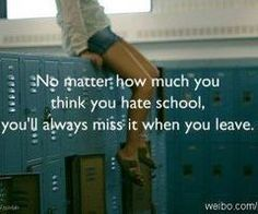 would love to go back to high school!!