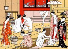 Sento that is public bath in Japan