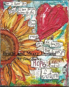 """Mixed Media Print - """"Jeremiah 29:11"""" on Etsy, $15.00"""
