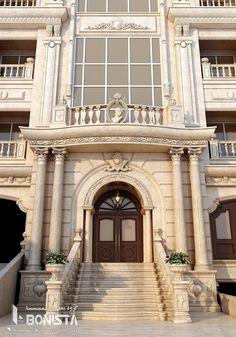Classic House Exterior, Classic House Design, Dream House Exterior, Architecture Building Design, Facade Design, Exterior Design, Building Facade, House Gate Design, Balcony Design