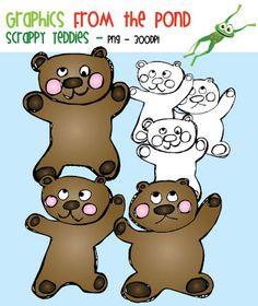 FREE Scrappy Teddy Graphics