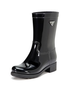 Too bad I paid full price for these last week and have them on today : (  Logo Rain Boot by Prada on Gilt.com
