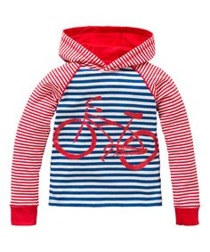 Love this Blue & Red Stripe Bicycle Hoodie - Toddler & Boys by Oilily on #zulily! #zulilyfinds