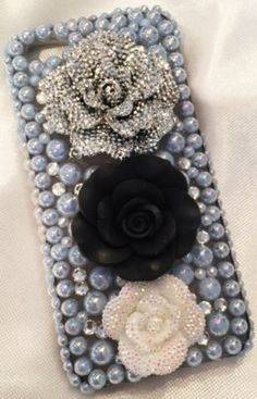 Blue Pearls Cosmic PetalsCell Phone Case for by TNoellecreations. I have this listed on Etsy for $45. :)