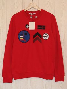 Givenchy Jumper Sweater Red - Size L Rottweiler Shark #Givenchy