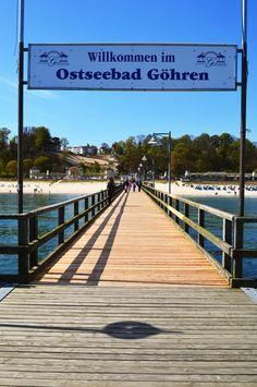 Seebrücke Göhren, Rügen / www.zum-alten-pfau.de  #ruegen #wirsindinsel #urlaub #reisen #ostsee #strand #ostseestrand